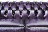 Chesterfield Sofa Original Leder | 2-Sitzer | Antik Violett | 12 Jahre Garantie_