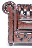 Chesterfield Sessel Original Leder | Antik braun | 12 Jahre Garantie_