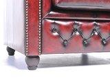 Chesterfield Sessel Original Leder | Antik rot | 12 Jahre Garantie_