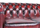 Chesterfield Sofa Original Leder | 3-Sitzer | Antik rot | 12 Jahre Garantie_