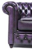Chesterfield Sofa Original Leder | 4-Sitzer | Antik violett | 12 Jahre Garantie_