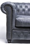 Chesterfield Sofa Vintage Leder | 6- Sitzer | Schwarz | 12 Jahre Garantie_