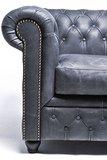 Chesterfield Sessel Vintage Leder    Schwarz  12 Jahre Garantie_
