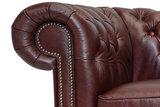 Chesterfield Sessel First Class Leder | Cloudy Rot | 12 Jahre Garantie_