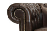 Chesterfield Sessel First Class Leder | Sessel | Cloudy Braun Dark| 12 Jahre Garantie_
