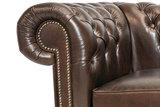 Chesterfield Sofa Class Leder |3-Sitzer |  Cloudy Dark Braun| 12 Jahre Garantie_