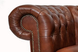 Chesterfield Sessel Class Leder | Sessel | Cloudy Braun Old | 12 Jahre Garantie_