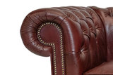 Chesterfield Sessel Class Leder | Cloudy Rot | 12 Jahre Garantie_