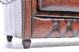 Chesterfield Sofa Original Leder | 2-Sitzer | Antik braun | 12 Jahre Garantie_