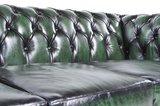 Chesterfield Sofa Original Leder   6-Sitzer   Antik grün   12 Jahre Garantie_