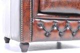 Chesterfield Sofa Original Leder  5-Sitzer   Antik braun   12 Jahre Garantie_