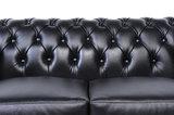 Chesterfield Sofa Original Leder |  1 + 2  Sitzer | Schwarz |12 Jahre Garantie_