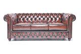 Chesterfield Sofa Original Leder |  2 + 3  Sitzer | Antik Braun |12 Jahre Garantie_