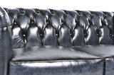 Chesterfield Sofa Original Leder |  2 + 3  Sitzer | Antik Blau |12 Jahre Garantie_