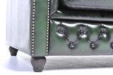 Chesterfield Sofa Original Leder    2 + 3  Sitzer   Antik Grün  12 Jahre Garantie_
