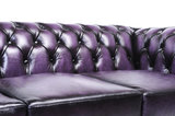 Chesterfield Sofa Original Leder |  1+ 1 + 3  Sitzer | Antik Violett |12 Jahre Garantie_