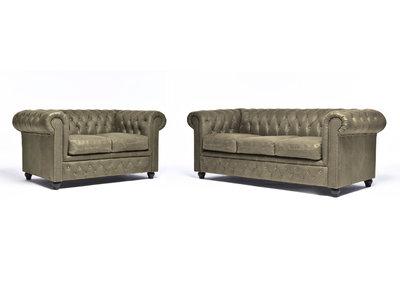 Chesterfield Sofa Vintage Leder Alabama C1057 | 2 + 3 Sitzer | 12 Jahre Garantie