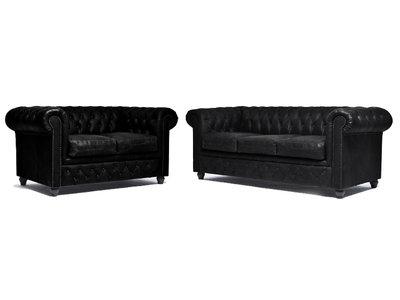 Chesterfield Sofa Vintage Leder C0871 | 2 + 3 Sitzer | 12 Jahre Garantie