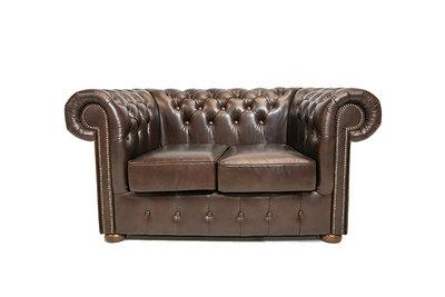 Chesterfield Sofa Class Leder |3-Sitzer |  Cloudy Dark Braun| 12 Jahre Garantie