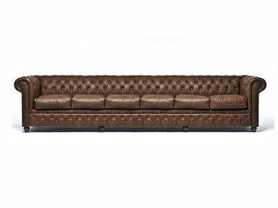 Chesterfield Sofa Vintage C0869   6-Sitzer   12 Jahre Garantie